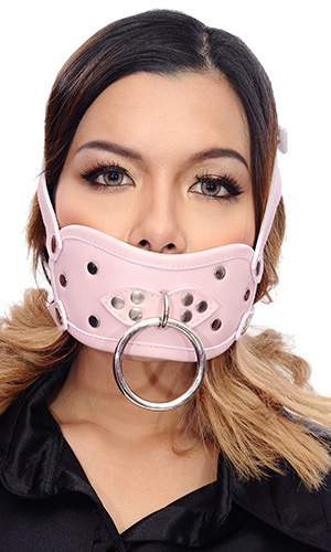 Leather Dildo Gag with Straps