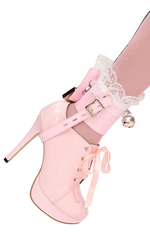 Captive Frilly Bell Shoe-locks (pair)