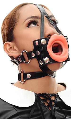 Pvc Head Gag With Lips Bon159 163 58 36 The Fantasy
