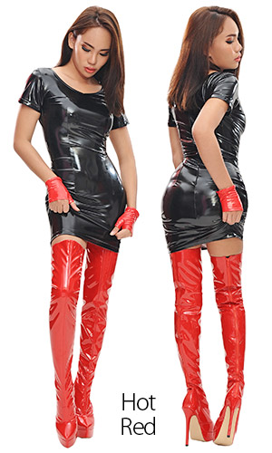 6 inch Custom size PVC Thigh Boots