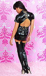 "6"" Custom size Leather Thigh Boots"