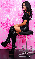 Estee Custom PVC over-Knee Boots