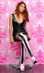 "6.5"" Custom Catalina PVC Thigh Boots"
