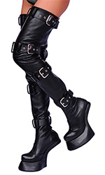 Leather 4-lock Pony Boots