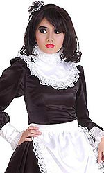 Lockable Satin Ruffle Collar