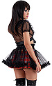 Cosplay Tartan Skirt with Net