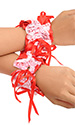 Elasticated Ribbons Cuffs (two)