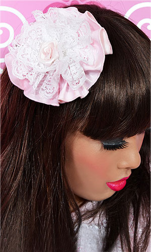 Primrose PVC and Lace Hair Flower