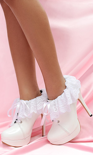 5 inch Frilly Maid Shoes