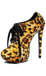 "5"" Golden Leopard Serving Shoes"