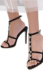 "4"" Itsy Leather Stud Heels"