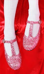 Sparkling T-Bar Mary Jane Shoes