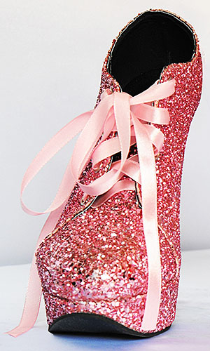 5 inch Sparkling Serving Shoes