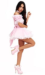 Pattie Gingham Sissy Maid Uniform