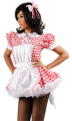Daisy Gingham Sissy Maid Uniform