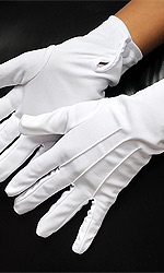 White Ceremonial Gloves