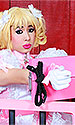 Rose Bow Sissy Gloves