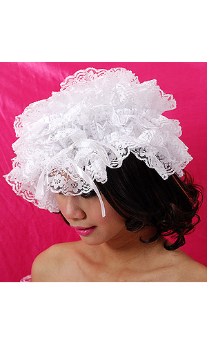 Tilly Large Lace Maids Hat