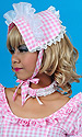 Kitty Gingham Bonnet