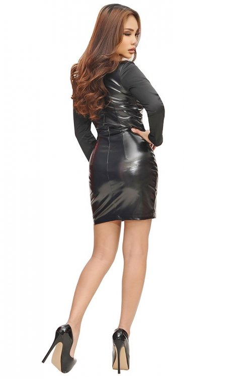 Martiya Leatherette Party Dress