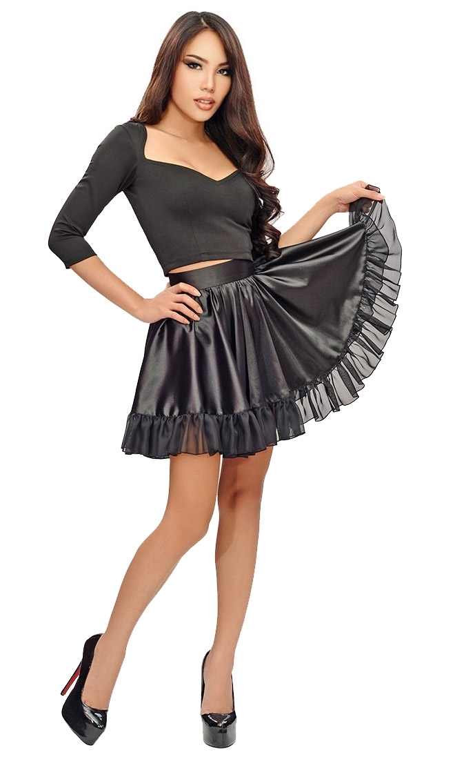Mirella Satin Pleated Skirt