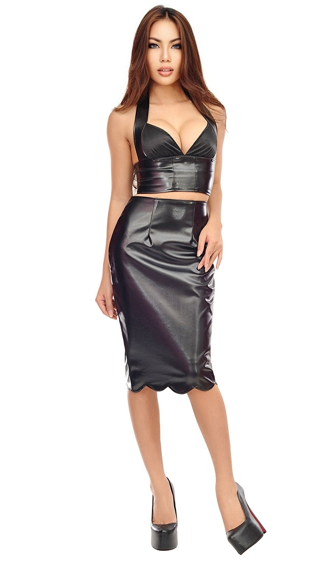Rana Leatherette Skirt