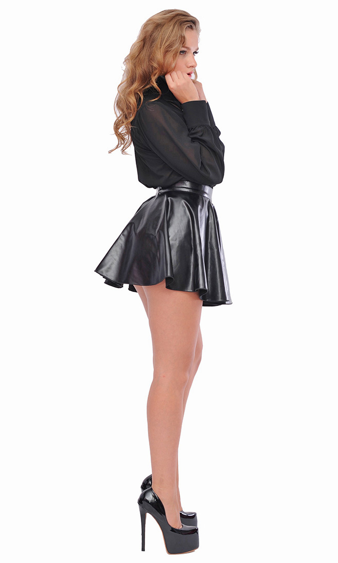 Lizzi Leatherette Skirt