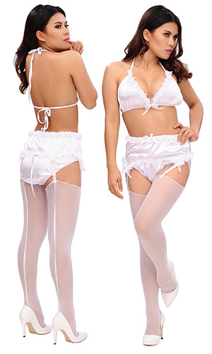 Sissy Virgin Lingerie Set