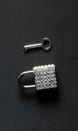Rhinestone Lock (with key)