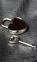 Big Flat Heart Lock (with key)