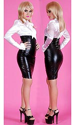 Samara High-waist Leatherette Skirt
