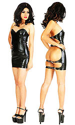 Lucy Leatherette Spank Dress