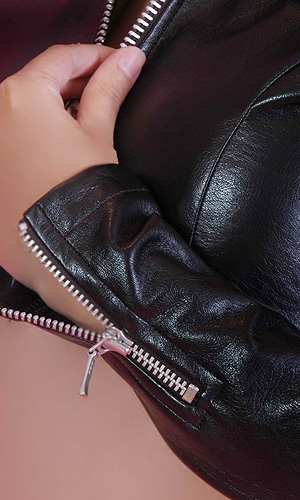 Cindy Leatherette Zipper Jacket