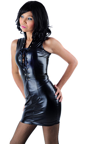 Varvara Leatherette Dress