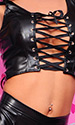 Tessa Leatherette Crop Top