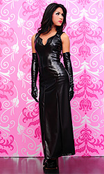 Raven Gothic Leatherette Dress