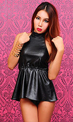 Lita Leatherette Top