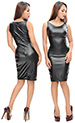 Lucille Shiny Leatherlook Dress