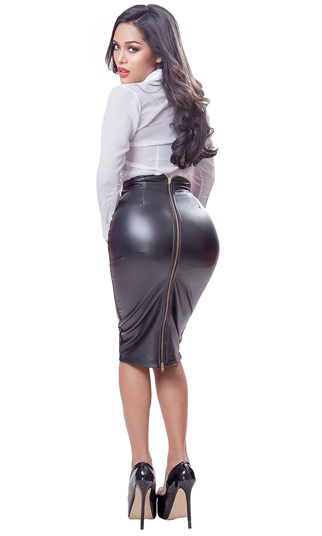 Opey Faux Leather Skirt