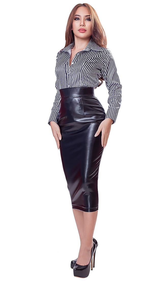 Leatherette Hobble Skirt
