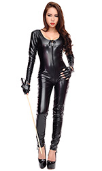 Luxury Harlot Leatherette Catsuit