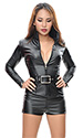 Faux Belt Shorts Catsuit