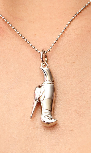 Silver Shoe Necklace