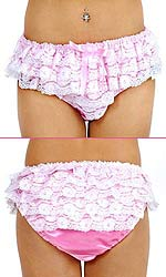Bambi Lace Covered Satin Panties