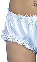 Bridal Lace-trimmed White Satin Panties