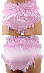 Christina Lace-trim Satin Panties