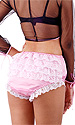 French Maid's Frilly Satin Panties