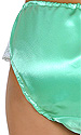 Jazelle Green Satin Panties with Lace