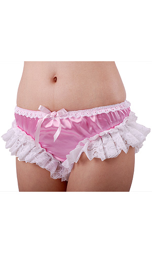 Lulu Lace-trimmed Satin Panties