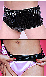Satin-lined PVC Panties